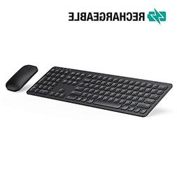 Keyboard Mouse Jelly Comb Rechargeable Ergonomic Ultra Slim