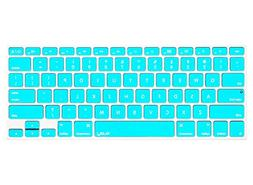Kuzy - Teal / Turquoise HOT Blue Keyboard Silicone Cover Ski