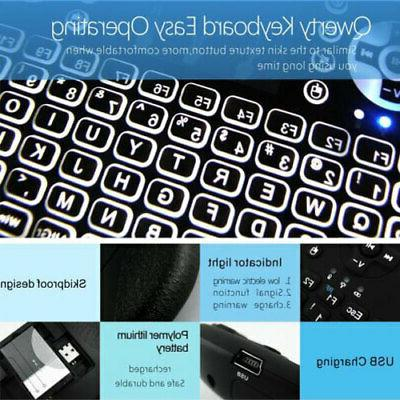 2.4G Backlit Keyboard Remote Controls for Smart TV