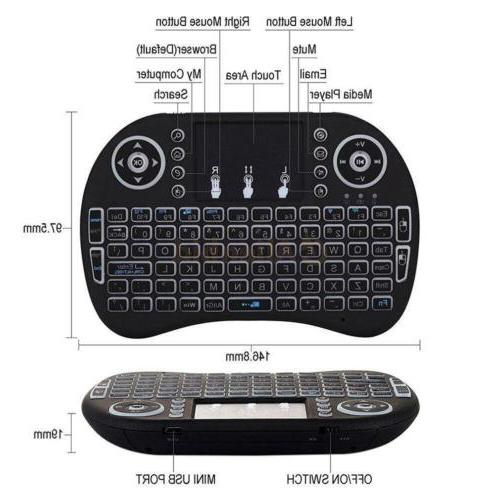 1x 3 Backlit 2.4GHz Wireless Keyboard for Box Android
