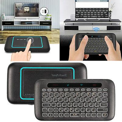2.4GHz Mini Backlit Wireless Keyboard Air Mouse Touchpad IR