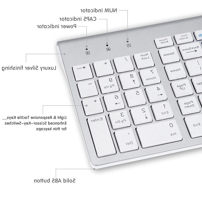 SeenDa 2.4G <font><b>Wireless</b></font> Silent <font><b>Keyboard</b></font> and Multimedia Full-size <font><b>Combo</b></font> Set Laptop