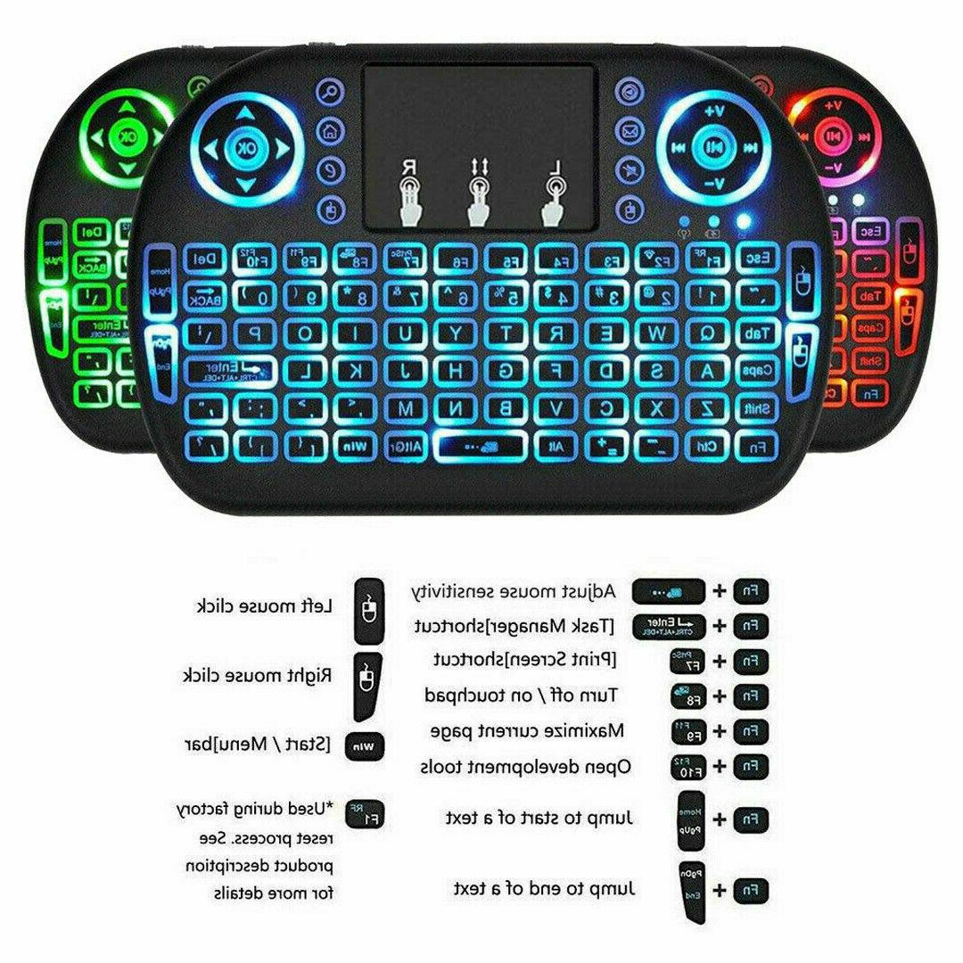 2.4G Mini Air Touchpad Keyboard Remote Control Box