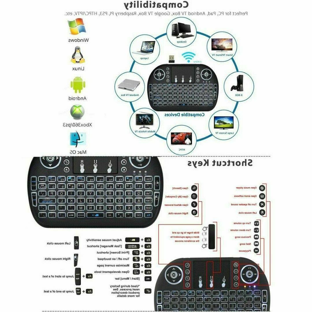 2.4G Touchpad Keyboard i8 Remote Control Box