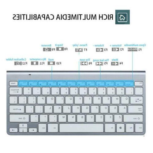 2.4G Mini Wireless Keyboard And Mouse Combo Set For Desktop Laptop
