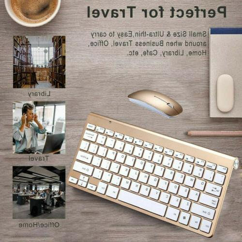 2.4G Wireless Keyboard Mouse For iMac/PC/Laptop