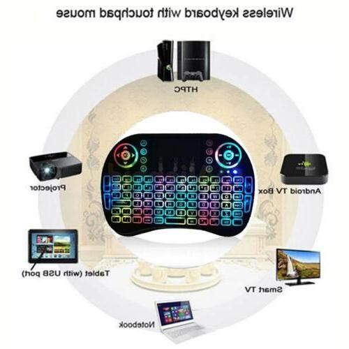 2.4G Microi Keyboard Remote Touchpad TV Box US