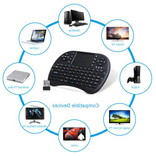 Mini Black Keyboard 92 Remote Control TV
