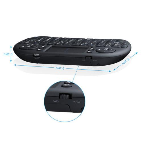 Mini 2.4G Black Keyboard Remote Control TV X-Box