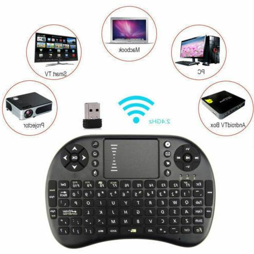 Backlit Wireless Keyboard Mouse Stick usb adapter