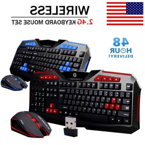 2.4G Gaming Keyboard and Mouse for Computer Gamer
