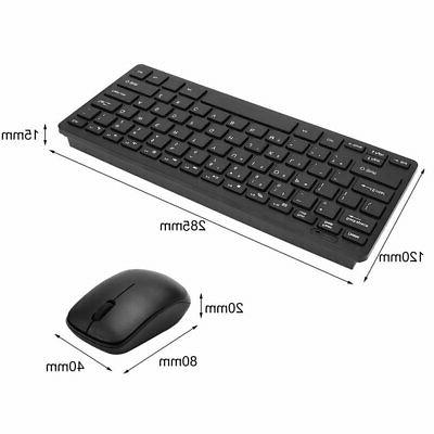 2.4G Keyboard Cordless Mouse Combo Slim Multimedia for