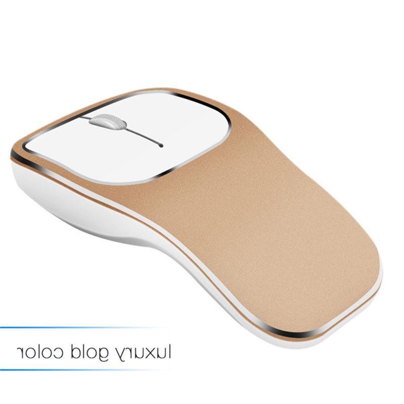 2.4G Wireless Mute Metal Roller Ergonomic Mouse Laptop