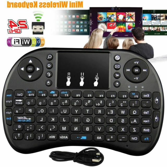 2.4Ghz Backlight Wireless Touchpad Rechargeable Keyboard For Android