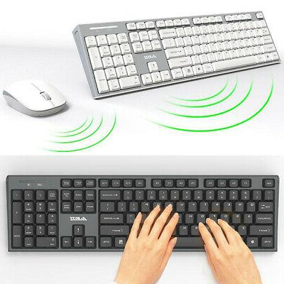 2 4ghz cordless wireless keyboard and mouse