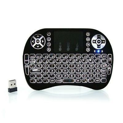 2 4ghz led backlit wireless keyboard touchpad