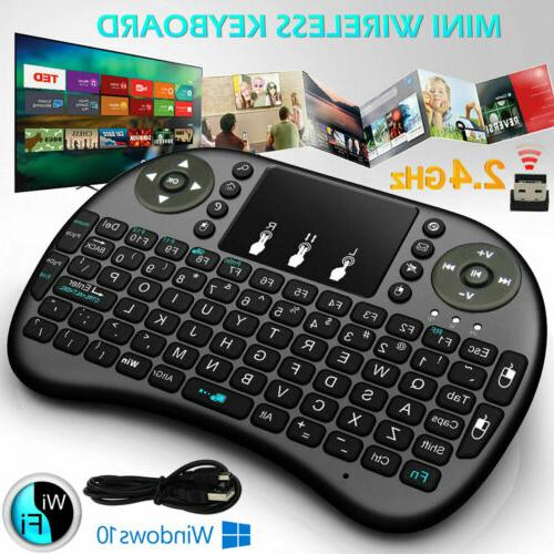 2.4Ghz Mini Wireless Keyboard Remote Controls Touchpad Manual PC