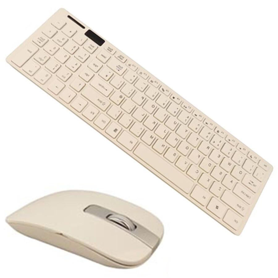 2.4Ghz USB Slim Wireless Cordless PC Laptop Keyboard & Optic