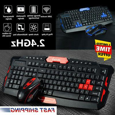 2 4ghz wireless gaming gamer keyboard