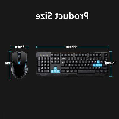 2.4GHz Keyboard + Mouse 6 Key Laser PC