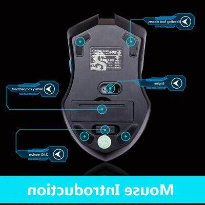 2.4GHz Wireless + Mouse Bundle 6 PC Laptop US