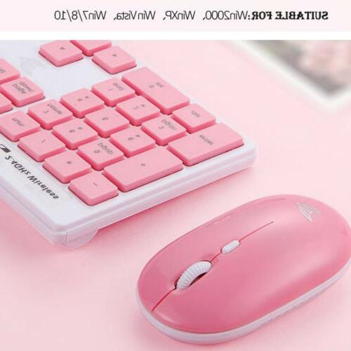 2.4GHz Wireless Keyboard Colored Keyboard and Mouse