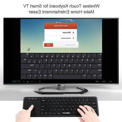 Wireless Keyboard With Built In with Multi-touch Touchpad 2.
