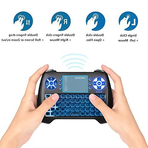 Wireless Keyboard Touchpad Mouse Rechargable Li-ion Battery & Multi-Media Remote TV Box,PS3,PC,PAD