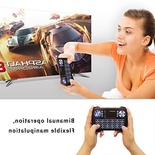 ANEWISH Mini Wireless with Mouse Li-ion Battery Multi-Media Handheld Remote Google TV Box,PS3,PC,PAD
