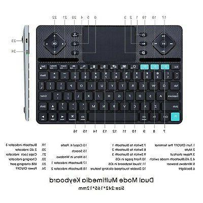 Rii Dual-Mode Bluetooth &RF Slim Multime...