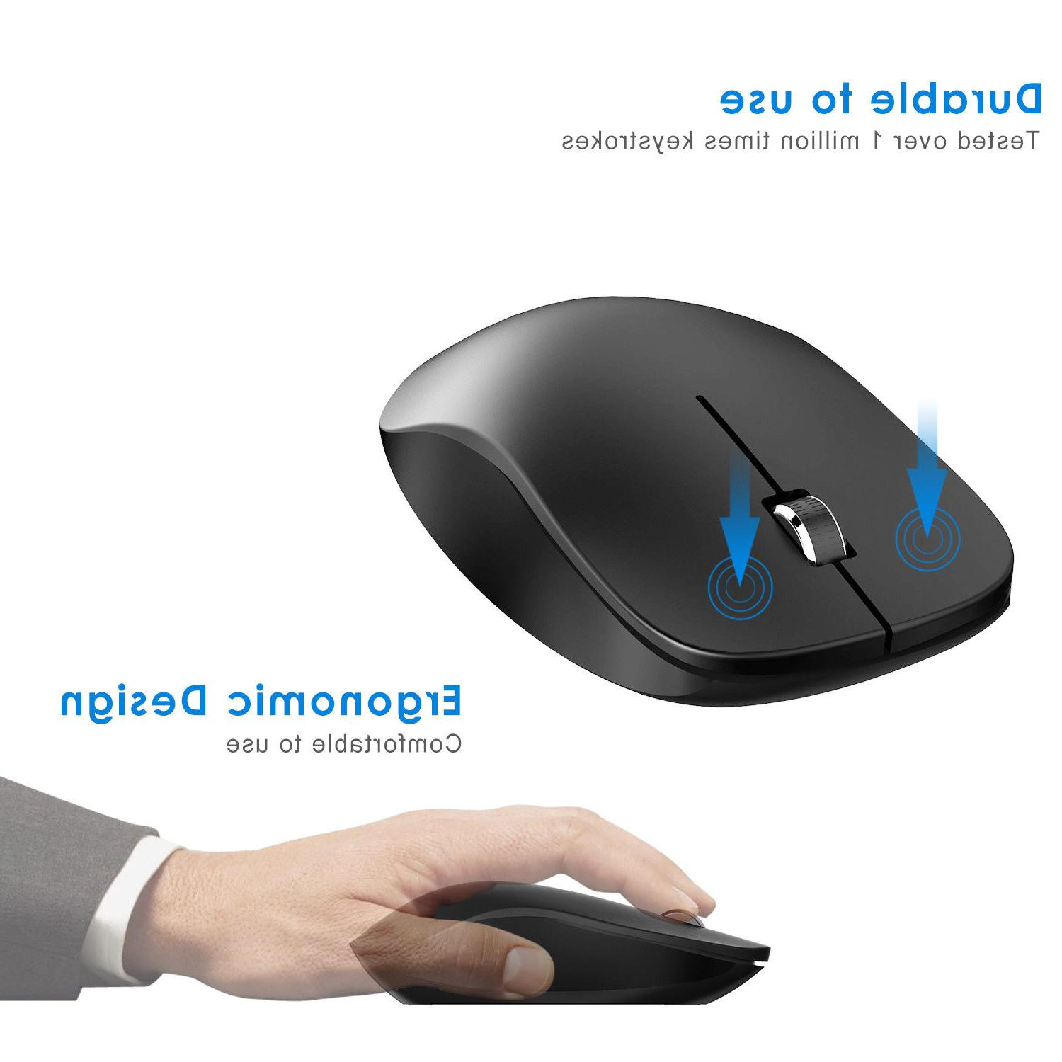 JETech 3-Button Wired Optical Mouse Mice