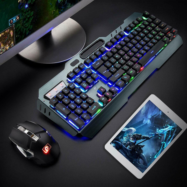 US Keyboard LED Keyboard Mice