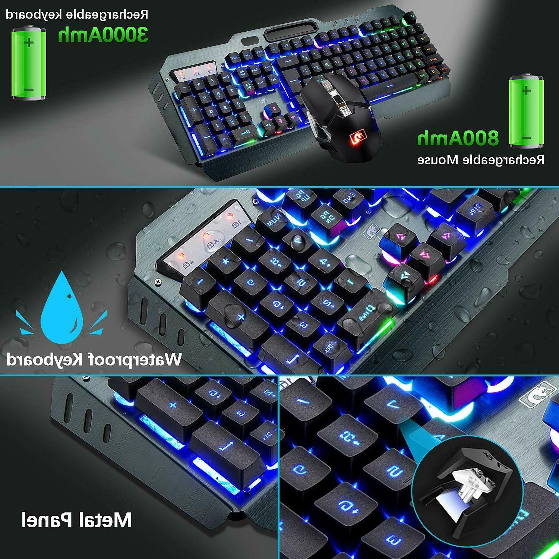 US Wireless Keyboard LED Keyboard