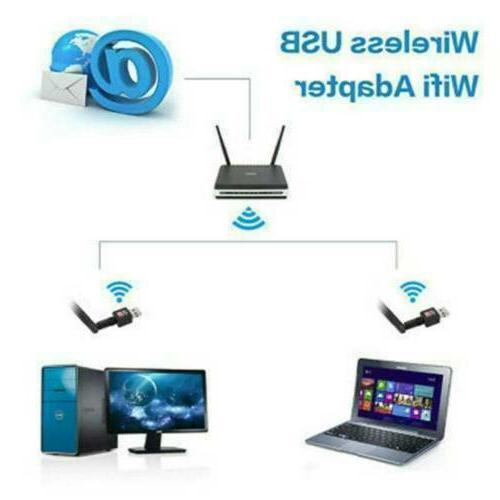 600Mbps Wireless WiFi Adapter Dongle Card w/Antenna