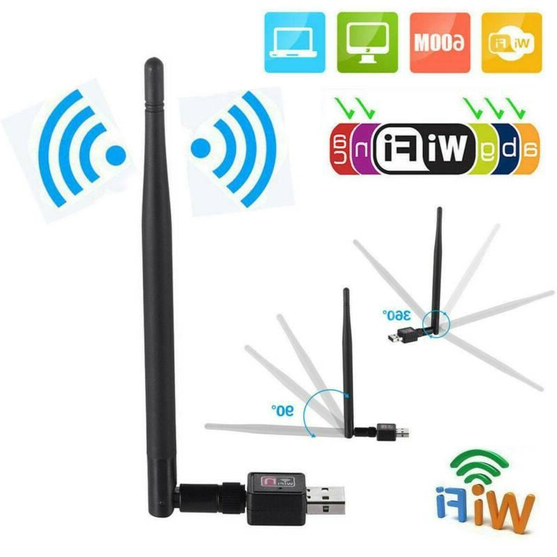 600mbps wireless usb wifi adapter dongle network