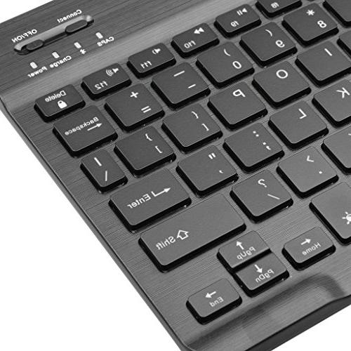 Portable Bluetooth 7-Colors Keyboard Built in Black