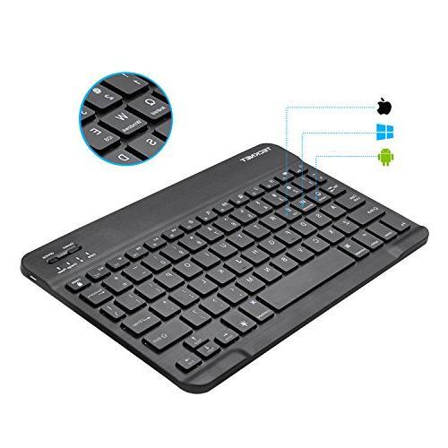 Backlit Bluetooth Keyboard, TeckNet Universal Portable 7-Colors Adjustable Bluetooth Wireless Keyboard