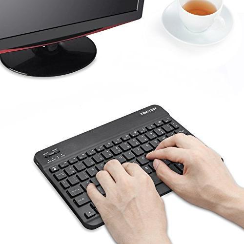 Backlit Keyboard, Universal Ultra-Slim Portable Illuminated 7-Colors Adjustable Keyboard
