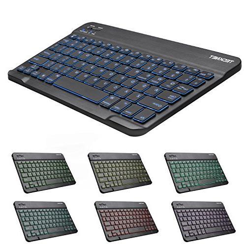 Backlit Keyboard, Universal 7-Colors Bluetooth Keyboard