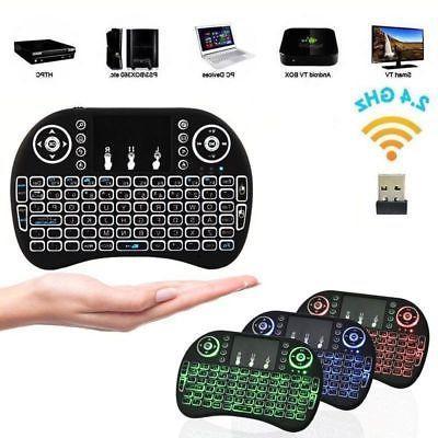 BlazeBox Color Backlit Wireless Keyboard+Touchpad Mouse 2.4G