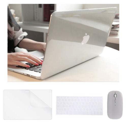 Crystal Clear Hard Case+Keyboard Cover+Mouse Set Macbook Air