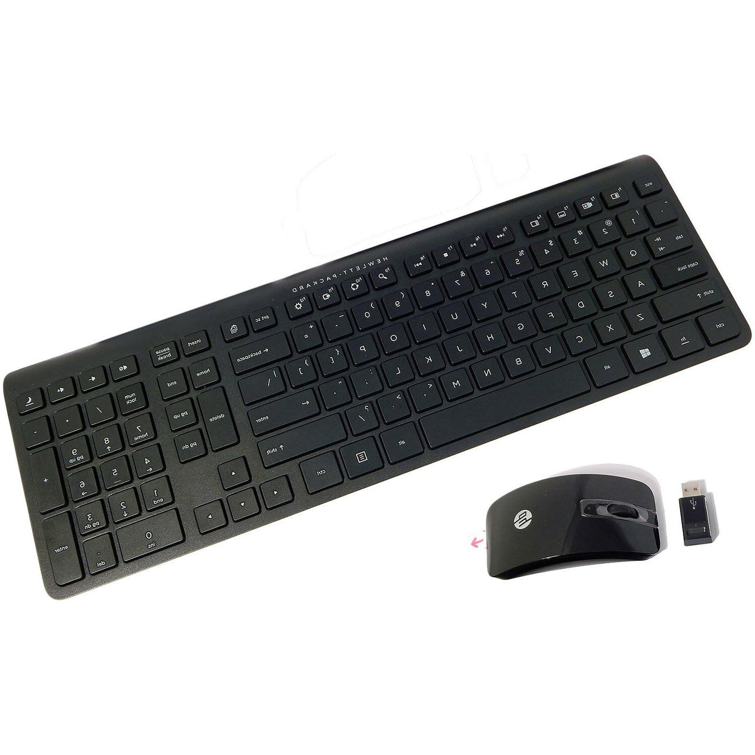 HP US Wireless Keyboard and Mouse Kit New