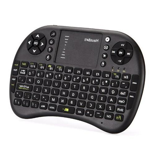 HausBell® Mini H7 2.4GHz Wireless Keyboard Touchpad for Andriod Box, Google TV Box, Xbox360, & HTPC/IPTV Battery**