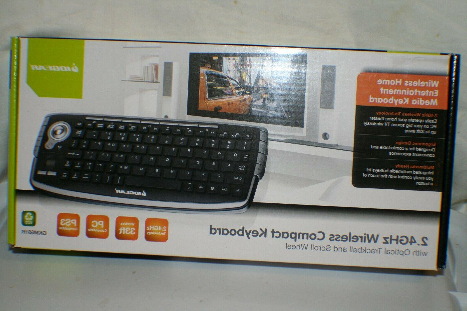 IOGEAR 2.4GHz Wireless Compact Keyboard with Optical Trackba