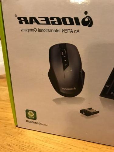 IOGEAR Long Range 2.4 GHz Wireless Keyboard Mouse GKM552R