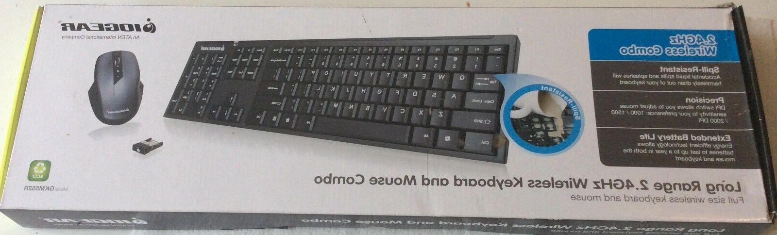 IOGEAR Long Range 2.4 GHz Wireless Keyboard and Mouse Combo,