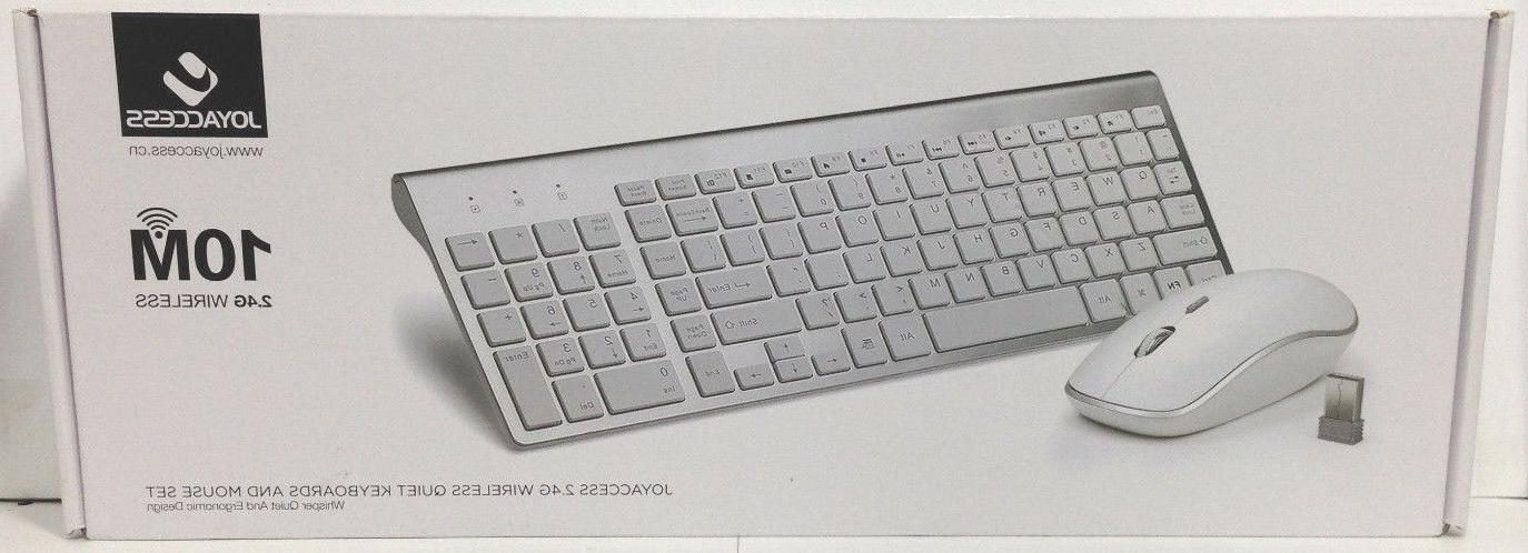 Joyaccess 2.4G Wireless Quiet Keyboard and Mouse Set W11-A1