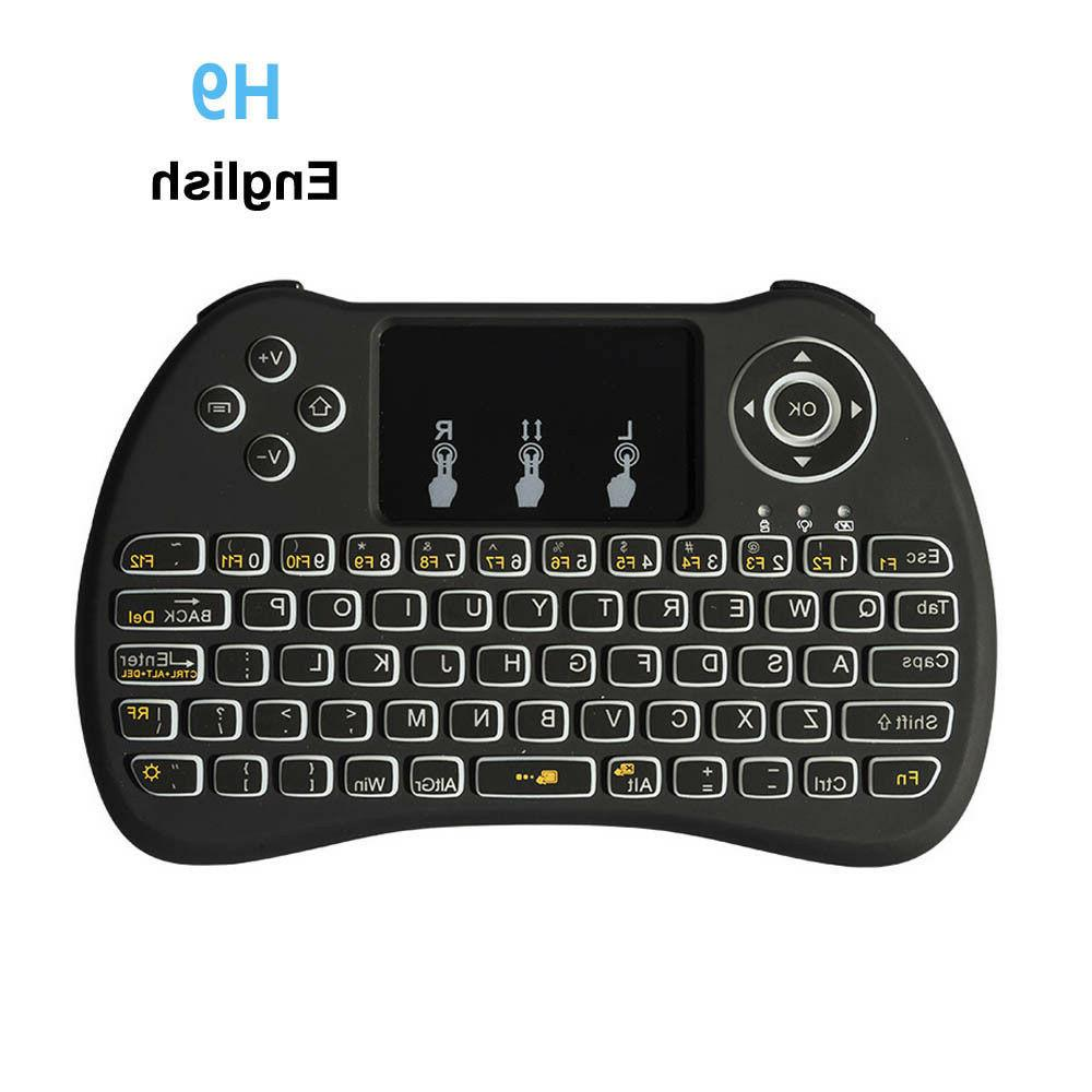 Keyboard Wireless 2 H9 4ghz Touchpad I8 Mini Pc Backlight Ta