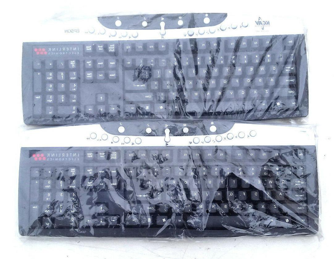LOT OF 2 Interlink Electronics Wireless Keyboard VP6410K