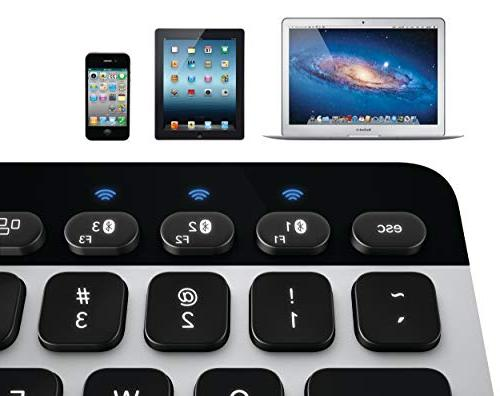 Logitech Easy‑Switch Bluetooth Keyboard Mac, iPad,